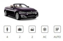 Europacar Car Group Convertible BMW 4 Series Cabriolet or similar