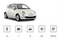 Europecar Car Group Convertible Fiat 500 Cabriolet or similar