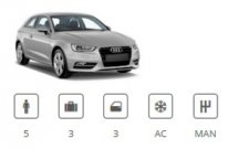 Car Group Standard/Intermediate Audi A3 or similar Euro Car
