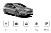 Car Group Compact Estate Ford Focus Estate or similar Europacar