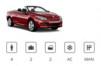 Europacar Car Group Convertible Renault Megane Cabriolet or similar